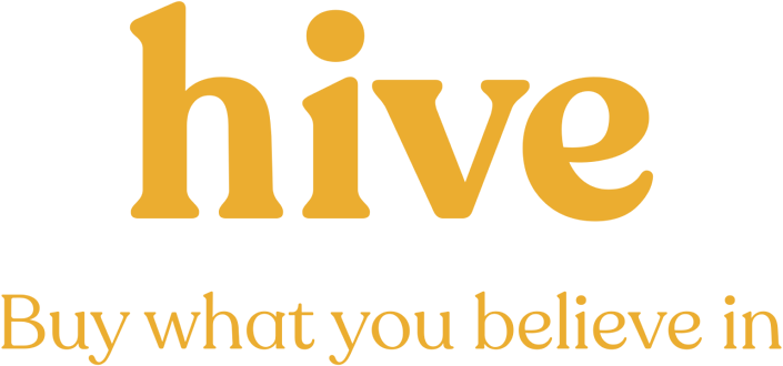 Hive logo to illustrate blog post about Hive Brands, with which Cloverly partners to offset the carbon costs of ecommerce shipping